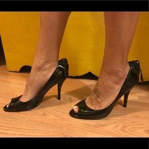 Enzo Angiolino Black Patent Heels size 8